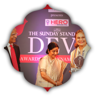 Couturier Manav Gangwani and Sheiba Anand, President Retail, PC Jeweller with the Sunday Standard Editor Ravi Shankar